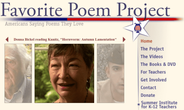 favorite poem project Favorite poem project 16k likes the favorite poem project is dedicated to celebrating, documenting and encouraging poetry's role in americans' lives.
