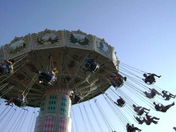 Picture of carnival swing ride.