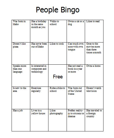 Introduction Bingo Template Pictures >> Free Printable Bingo Cards ...