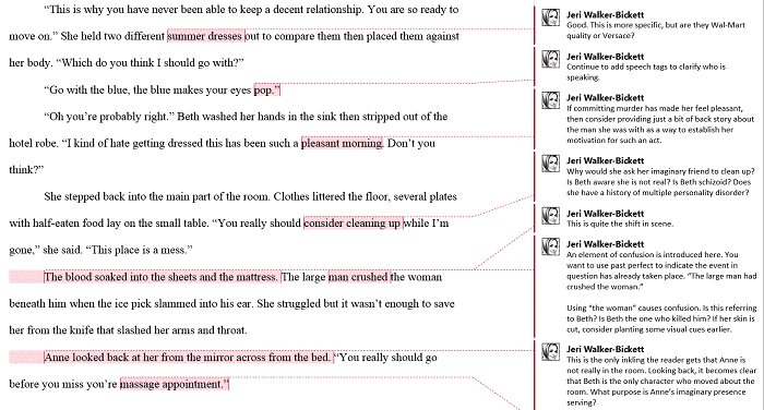 Image of Manuscript Critique Sample