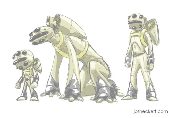 Son of Bigfoot character designs