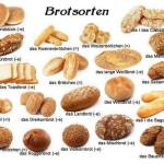 Macam-macam Roti dalam Bahasa Jerman. Different Types of German bread. Die Brotsorten.