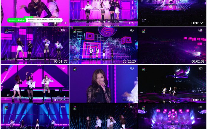 171225 SBS 2017 Gayo Daejun BLACKPINK - so hot + AS IF IT'S YOUR LAST
