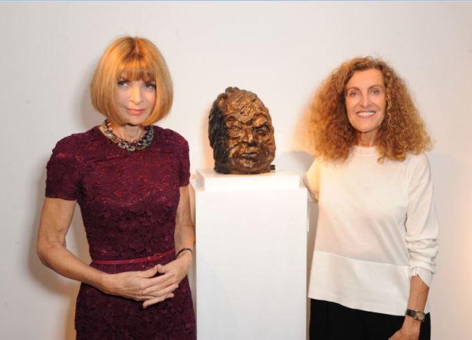 Anna Wintour & Nicole Farhi Jermyn Street: Bowman Sculpture & Nicole Farhi