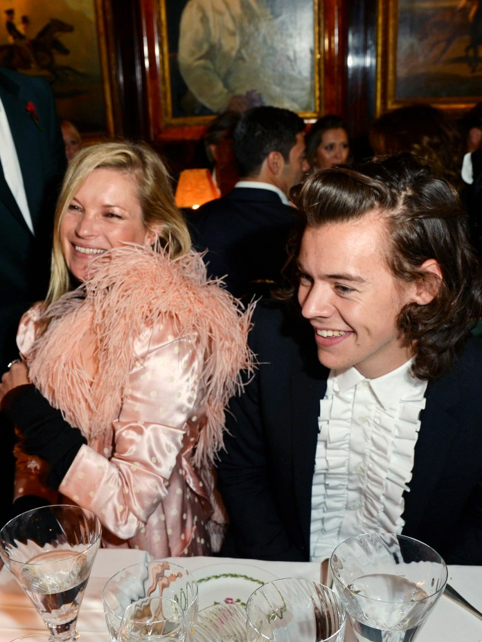 Jermyn Street Style. Kate Moss & Harry Styles RSA And Untitled Presents 'A Sting Of Naked Lightbulbs' Screening, Annabel's London - After Party