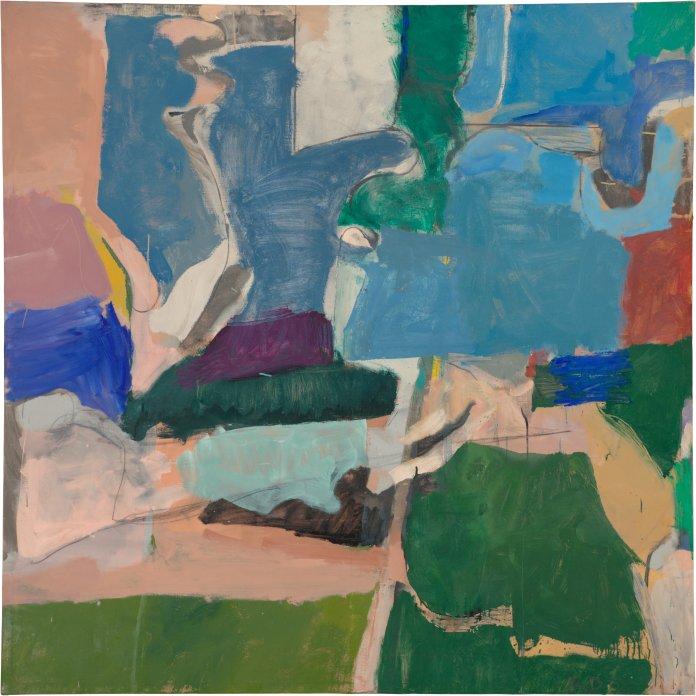 Richard Diebenkorn. Berkeley #5, 1953. Oil on canvas, 134.6 x 134.6 cm. Private collection. Copyright 2014 The Richard Diebenkorn Foundation