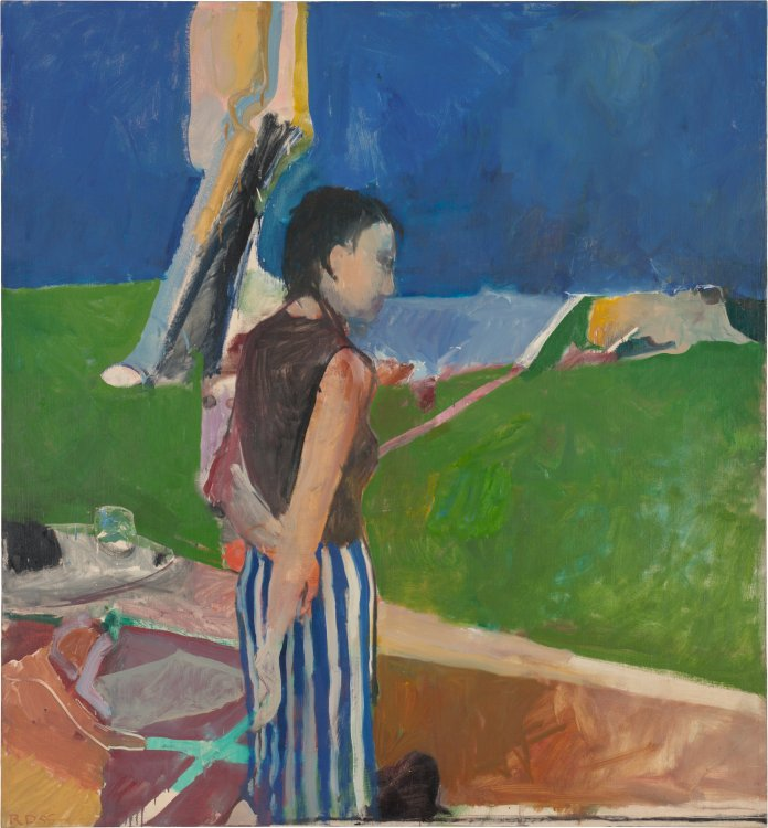 Richard Diebenkorn. Girl On a Terrace, 1956. Oil on canvas, 179.07 x 166.05 x 2.54 cm. Collection Neuberger Museum of Art. Purchase College, State University of New York. Gift of Roy R. Neuberger. Cop