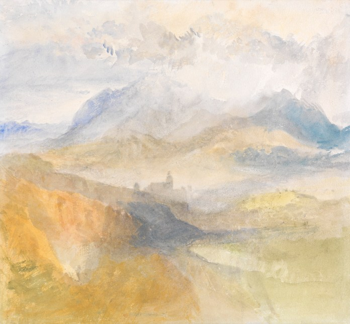 J.M.W.Turner, A view over the val d'Aosta,1836. Offered by Lowell Libson (D17