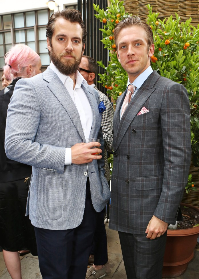 LONDON, ENGLAND - JUNE 14: Henry Cavill (L) and Dan Stevens attend the dunhill and GQ style party to celebrate LCM SS16 at Bourdon House on June 14, 2015 in London, England. (Photo by David M. Benett/Dave Benett/Getty Images for Alfred Dunhill Ltd)