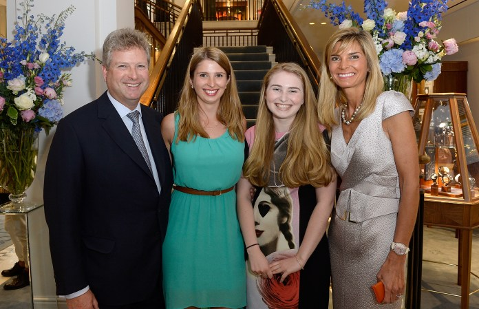 LONDON, ENGLAND - JUNE 24: William and Lucy Asprey with daughters attending the William & Son new flagship store launch on June 24, 2015 in London, England. (Photo by David M. Benett/Dave Benett / Getty Images for William & Son) *** Local Caption *** William Asprey; Lucy Asprey
