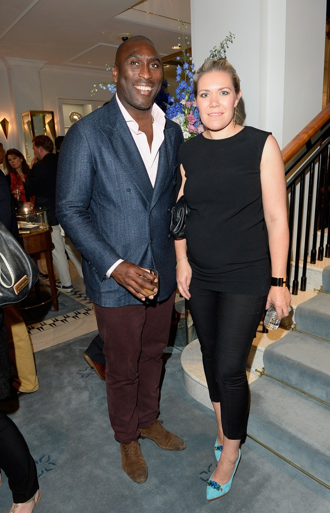 LONDON, ENGLAND - JUNE 24: Sol Campbell and wife Fiona Barratt attend William & Son new flagship store launch on June 24, 2015 in London, England. (Photo by David M. Benett/Dave Benett / Getty Images for William & Son) *** Local Caption *** Sol Campbell; Fiona Barratt