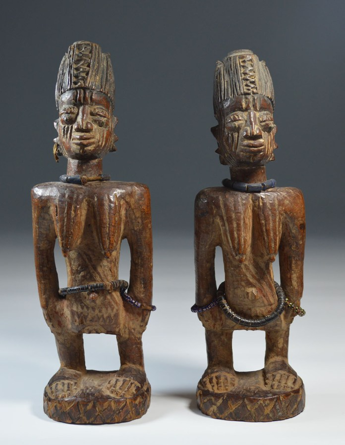 KennMacKay-PairYorubaIbejiFigures,Nigeria