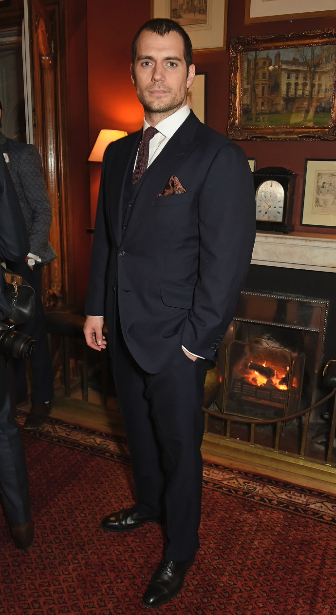 LONDON, ENGLAND - JANUARY 10: Henry Cavill wearing dunhill attends dunhill Autumn Winter 2016 Collection Presentation LCM on January 10, 2016 in London, England. (Photo by David M. Benett/Dave Benett/Getty Images for Alfred Dunhill) *** Local Caption *** Henry Cavill