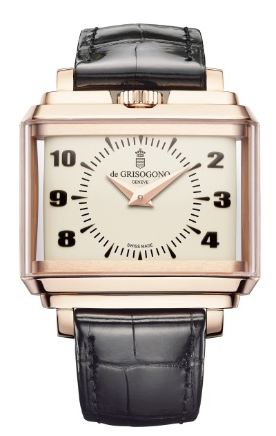 NEW de Grisogono New Retro N03 in rose gold with white dial