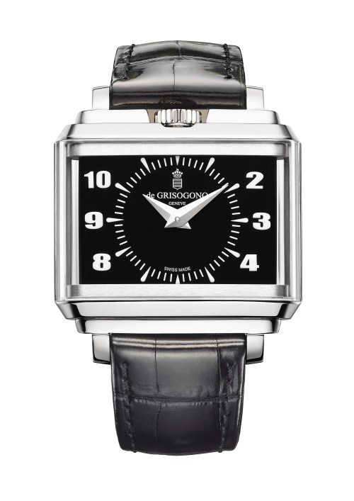 NEW de Grisogono New Retro N04 in white gold with black dial
