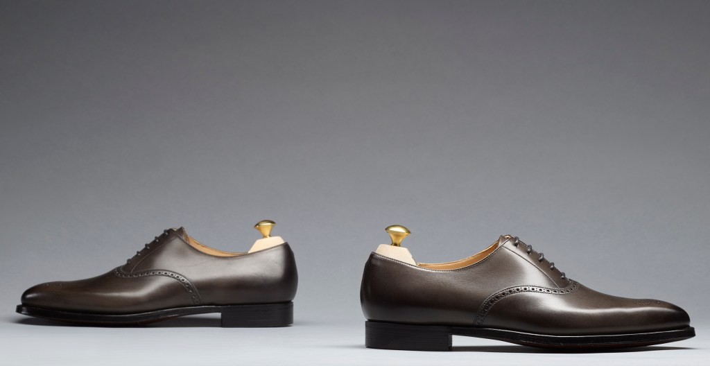 Edgware | Grey Burnished Calf | Last 348 | Single Leather Sole | RRP £390
