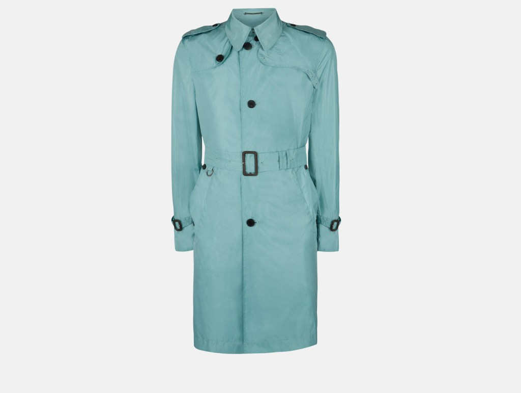 Voyager Packaway Trench Coat - Aqua Green - Menswear