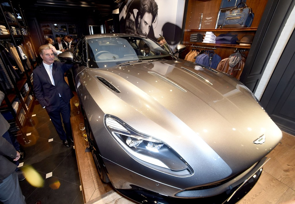 attends the launch of the Aston Martin by Hackett collection at Hackett Regent Street, on September 8, 2016 in London, England.
