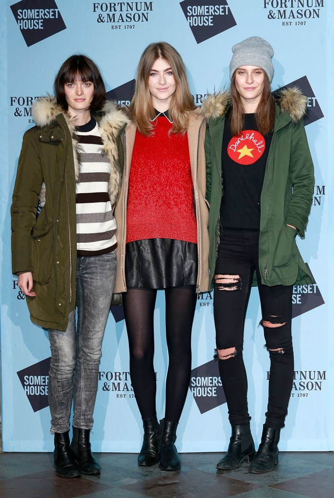 LONDON, ENGLAND - NOVEMBER 16: (L-R) Sam Rollinson, Eve Delf and Charlotte Wiggins attend the opening party of Skate at Somerset House with Fortnum & Mason on November 16, 2016 in London, England. London's favourite festive destination opens at Somerset House on Thursday 17th November and runs until Sunday 15th January 2017. (Photo by David M. Benett/Getty Images for Somerset House Trust/Fortnum & Mason) *** Local Caption *** Eve Delf; Charlotte Wiggins; Sam Rollinson