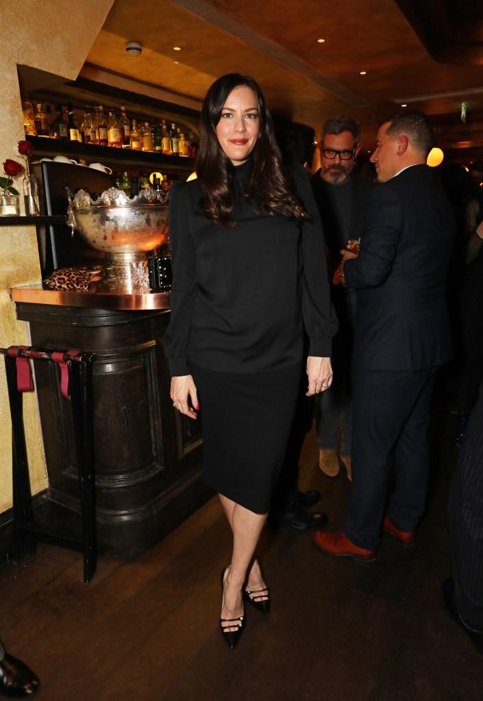 LONDON, ENGLAND - NOVEMBER 16: Liv Tyler attends the Kent & Curwen dinner with Mr Porter at Little Social on November 16, 2016 in London, England. Pic Credit: Dave Benett