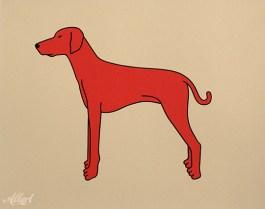 Rode Hond (2) / 24 x 30 cm / oplage 50
