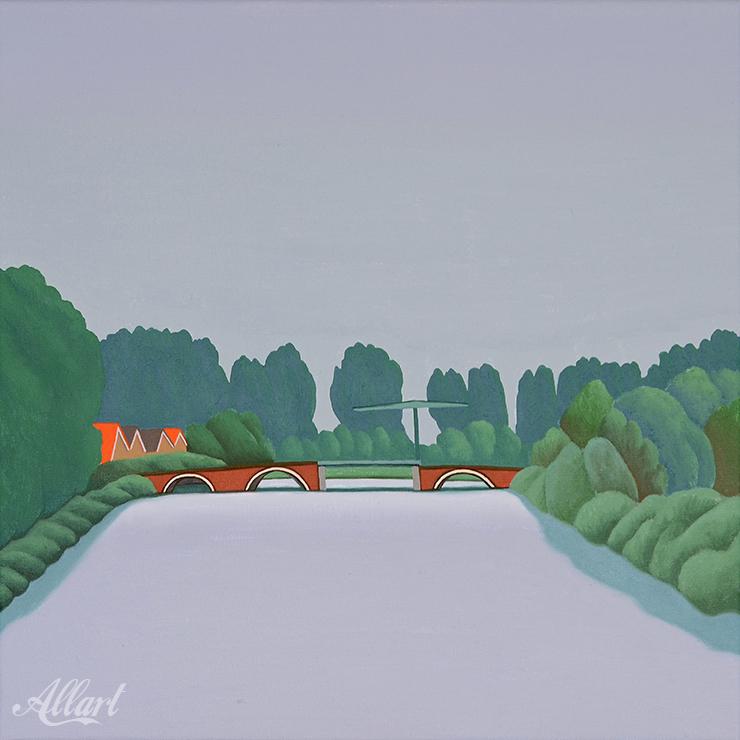 Overschie / 40x40 / oil / Jeroen Allart / 2019