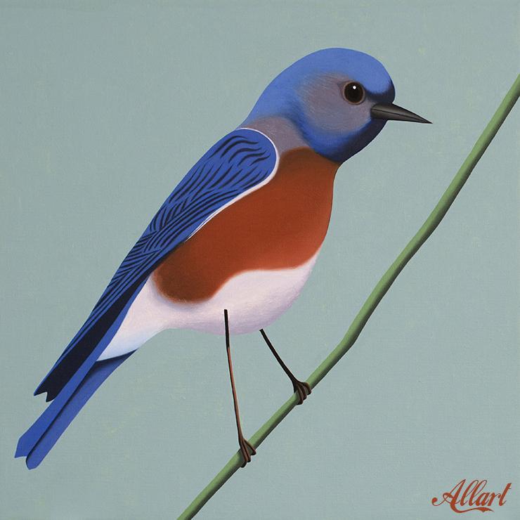 Bird / 50x50cm / oil / © Jeroen Allart / 2020