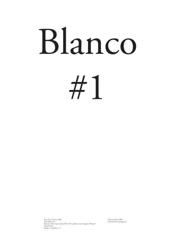 Blanco #1