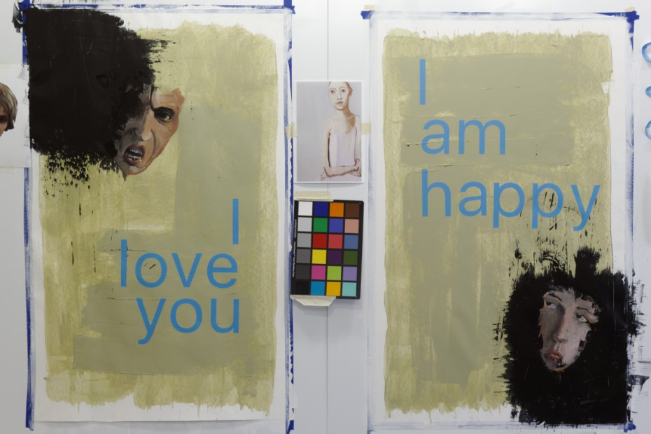 """""""they dont - I love you & I am happy"""" by Jeroen Carelse - Acrylic - 2019"""