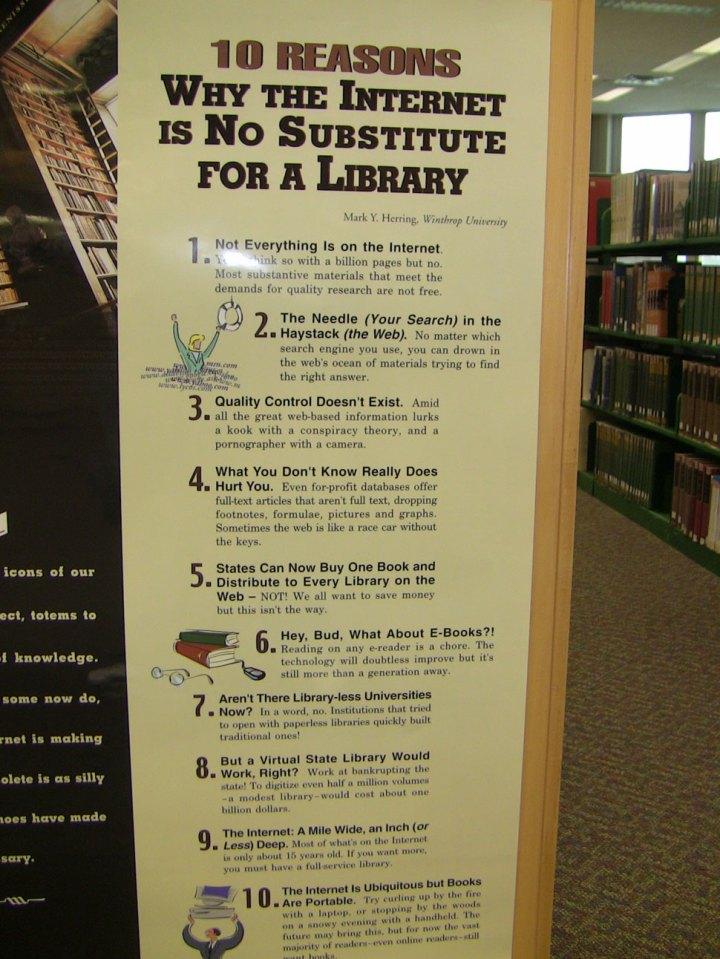 Waarom het internet een bibliotheek niet vervangt?