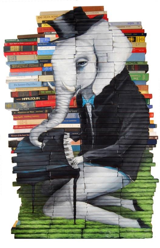 Mike Stilkey beschildert boeken