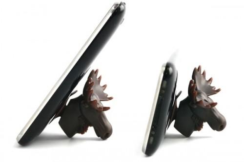 Eland houdt telefoon overeind