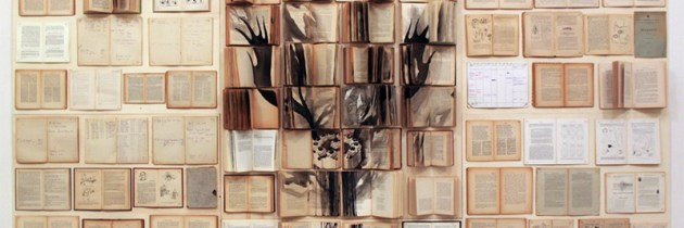 Boeken als schildercanvas