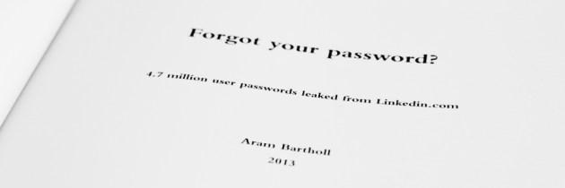 Forgot Your Password? is een gebonden uitgave van gehackte LinkedIn wachtwoorden