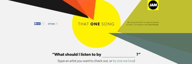 Sociale muziekaanbevelingen via That One Song