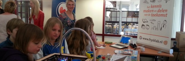 Presentatie educatief programma FryskLab Elements bij Kunstkade