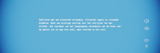 Noisli: een teksteditor met achtergrondgeluid
