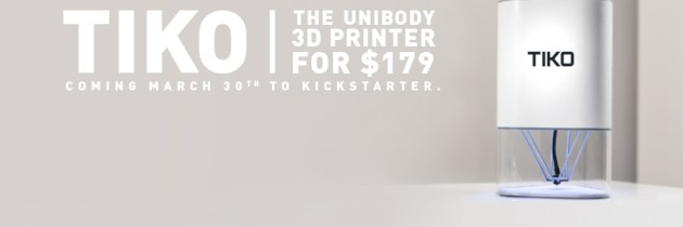 Tiko: binnen 3.5 uur startkapitaal voor een goedkope 3D printer (179 dollar) bij elkaar