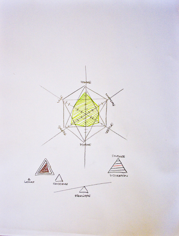 jerome pierre dessins portrait diagrammatic vert