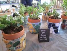 mosaic pots by Susan