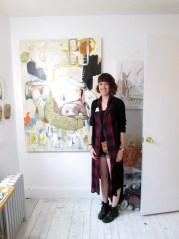 Hilary Tait Norod in her studio