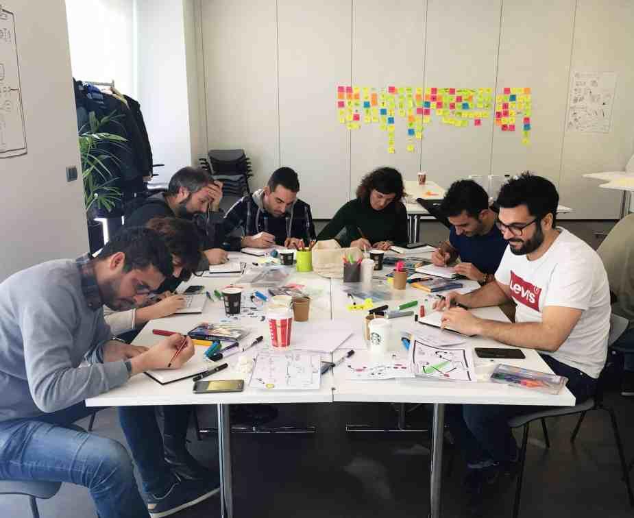 Alumnos del primer taller de Facilitación Gráfica