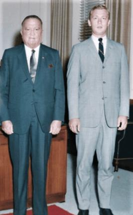 Paul Letersky Assisting J. Edgar Hoover