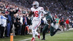 JT Barrett scores against MSU in OSU win 49 - 37.