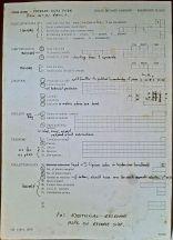 Field Collection Notes, SEPASAT project, Royal Botanic Gardens, Kew, 1982
