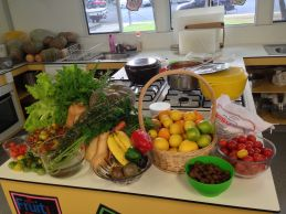 Produce from Biggenden State School food garden