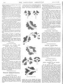 Gardenesque landscape notes, Gardener's Chronicle, 28.1.1888, UK