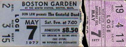 Grateful Dead 1977 05 07 Boston Garden Boston MA USA