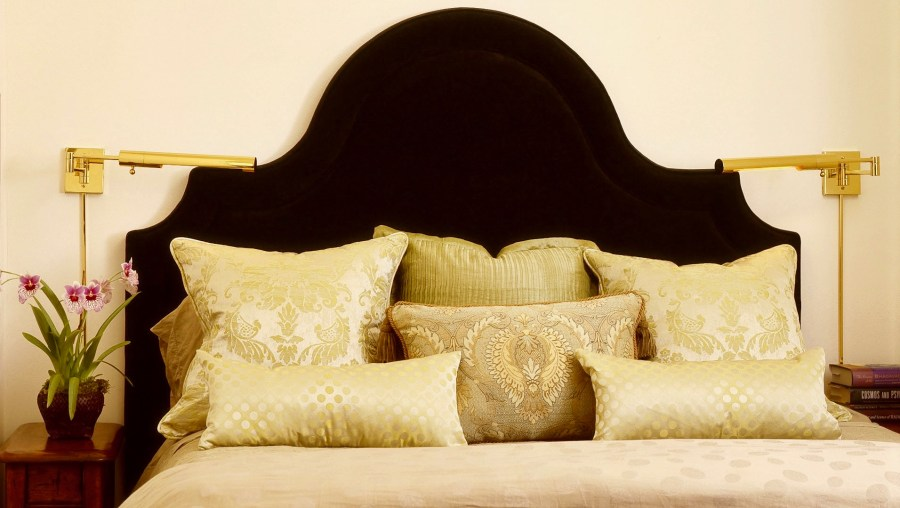 Headboard and pillows