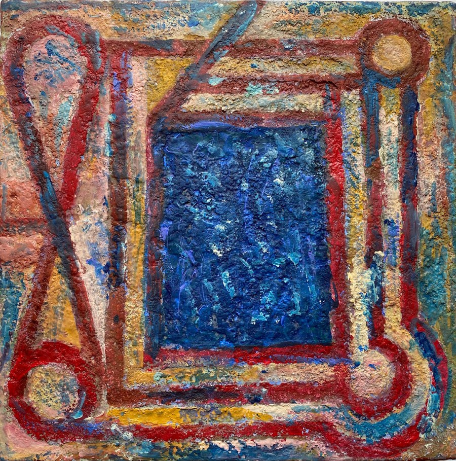 Painting by Vicente Rojo Birdeye garden